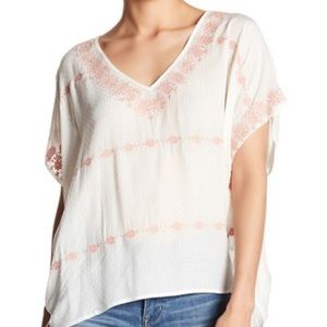 Love Stitch Dolman Embroidered Blouse Small